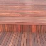 Jarrah bench seat, deck and screen