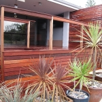 Jarrah deck with sides, screen and fence