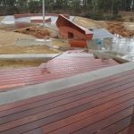 Steps made from Jarrah decking at Skate Park